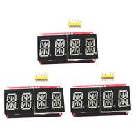 "3x1/2"" 4 bit Digital LED Display ModuleS For Arduino 14 Segment Red/Orange"