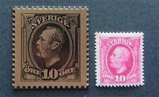 Sweden - Stamp in Bronze + real stamp - Very rare - Slania