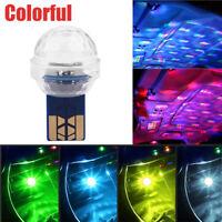 Mini USB Car Interior LED Light Neon Atmosphere Ambient Music Control Lamp