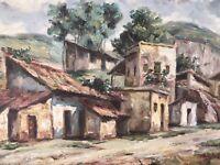 "ENDARA original large 28 x 19"" Framed PAINTING on Canvas Art village"