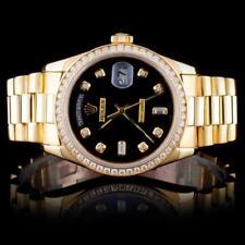 Rolex 18K YG 36MM Day-Date 1.50ct Diamond Watch Lot 49