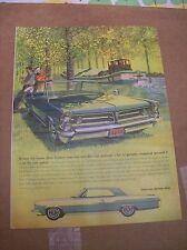 Original 1963 Pontiac Grand Prix Magazine Ad - It May Be Some Time...