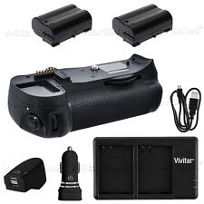 Battery Grip for Nikon D600 D610 MB-D14 + 2X EN-EL15 Battery + Dual Charger
