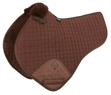 Lemieux ProLambskin Half Lined Close Contact Jumping Square Full Brown/brown