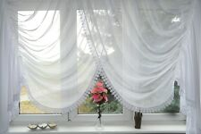 Ready Made Window Curtain Voile Net Curtain 150 X 400 Cm White Ag4 Art Deco