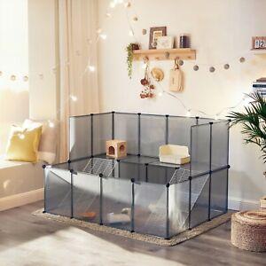 SONGMICS Enclos pour petit animal, clôture modulable, Gris LPC004G01