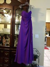 Signature Alfred Angelo Violet Purple Strapless Formal Dress Size 6