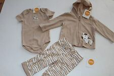 Gymboree Brand New Baby Girls Boys Baby Zebra Tan Size 6-12 M NEW Outfit Jacket