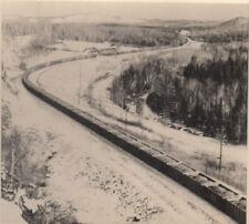 Photo ca.7x7cm Train avec de nombreux WAGON Voll avec CARBONE ? (agf1809)