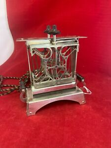 Vintage Star Electric Toaster Art Deco Unusual Model Tested Works w/cord