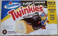 NEW Hostess Fudge Covered Chocodile Twinkies 8 Count Free Worldwide Shipping