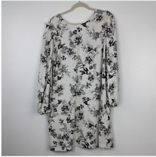 Who What Wear Birds and Flowers Linen Dress XL (new w/o tags)