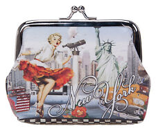 Robin Ruth New York City Pin Up Girl Vintage Style Designer Coin Clasp Purse