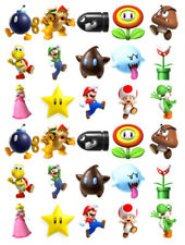 SUPER MARIO 30 BIRTHDAY EDIBLE STAND UP CAKE TOPPERS PREMIUM WAFER CARD