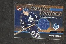 MATS SUNDIN 2003-04 TOPPS PRISTINE CERTIFIED GAME USED JERSEY CARD MAPLE LEAFS