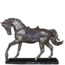 "16"" Silver Horse statue Figurine ~ Horse Figurine ~ Horse Statue ~ Horse Decor"