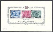 Poland stamps 1948 Mi Bloc 11 Mnh Vf