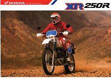 1991 HONDA XR250RM  2 page Motorcycle Brochure NOS