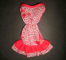 Vintage Barbie doll clothes: Red & white floral & polkadot dress 1980s/90s