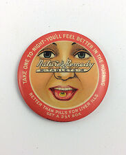 Antique pocket mirror Advertising Natures Remedy tablets pre Tums