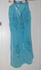 "Sz 5 Light Blue Top and Pants silk  Vietnamese Traditional ""Ao Dai"" Vietnam made"
