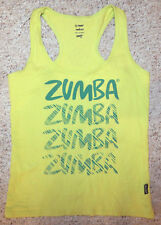 ZUMBA Feel the Thrill Racerback Sleeveless Top Size Medium in Lime Green