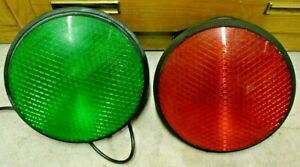 """Dialight 12"""" Red Stop Green Go Traffic Signal Light Street Road Safety w/ Gasket"""