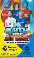 2017-18 topps match attax promotional packets 3x single packets