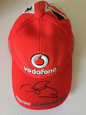 Jenson Button mano firmado pac Mclaren Mercedes De Fórmula 1 campeón del mundo.