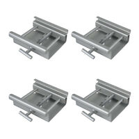 4x Showtec Marquee Tent Beam Clamp Kader (Silver)