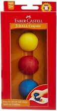 Faber Castell Safe&Clean 3 Ball Crayons Easy To GRAB Ball Ideal For Toddler