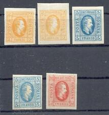 RUMÄNIEN 1865 11ax,by,12x,y,13 * schön (11064