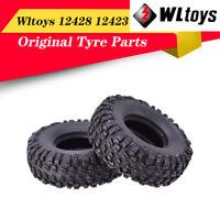 Rubber RC Car Wheels Tires for Wltoys 12428 12423 1/12 RC Car Left Wheel Tyre