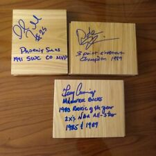 TERRY CUMMINGS AUTOGRAPH SIGNED FLOORBOARD KNICKS SPURS BUCKS WARRIORS ROY