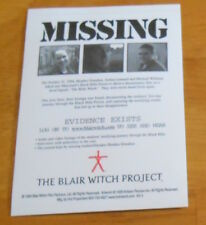 The Blair Witch Project Missing Movie Sticker Original Promo (rectangle) Rare