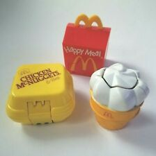 Vintage 1990 McDonald's HAPPY MEAL Changeables McDino Transformer Toys Set of 3