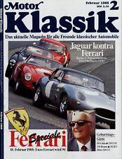 Motor Klassik 2/88 1988 Giulia GTC Jaguar Mk2 Triumph BDG 250 H Stoewer Dino 246