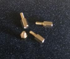 LOT DE HUIT ENTRETOISES LAITON HEXA 5  - M3 hauteur 7mm - MALE 6mm / FEMELLE