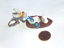 Warner Bros. Bugs Bunny In Boat w/ Party Hat, Fishing Net Key Chain Ring Fob
