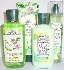 Bath and Body Works 4 Pc Apple Blossom Gel-Mist-Lotion-Body Cream ~ Free Ship