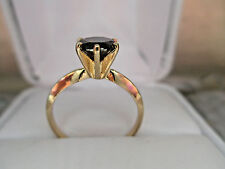 Solid 10K Yellow Gold 1.03Ct Natural Brown Diamond Engagement Ring G.I.A.$695