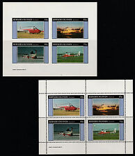 GB Locals - Bernera (165) 1982 HELICOPTERS perf & imperf sheetlets  unmounted