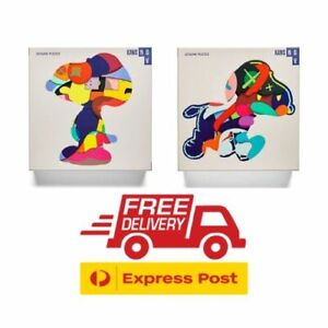 KAWS Puzzle Exclusive NO ONE'S HOME / STAY STEADY SET 1000 Pieces BRAND NEW SEAL
