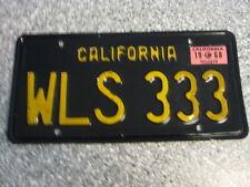 1963 California License Plate, Single, 1968 Validation Sticker, , EX