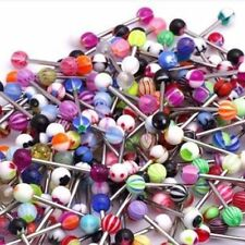 30PCS Wholesale Lots Mixed Body Piercing Body Jewelry Barbell Rings Tongue Ring