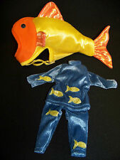 """Fish Costume For 12"""" Doll By The Itty Bitty Toy Co."""