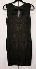 Cache sz 8 Petite LBD Black Sleeveless Evening Dress Lace