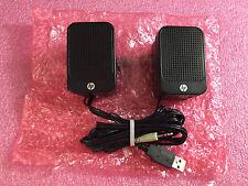 NEW HP MINI Multimedia Computer Speakers 630797-001 USB Powered Desktop Laptop