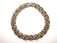 Beautiful Retro Vintage Gold Metal Link Necklace