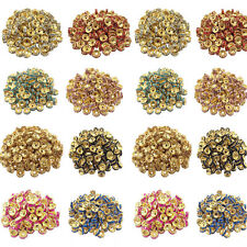 Wholesale Crystal Gold Plated Spacer Loose Beads Bracelet Jewelry Making 8mm DIY